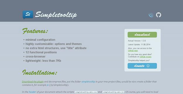 25个最好的Tooltip工具提示jQuery插件